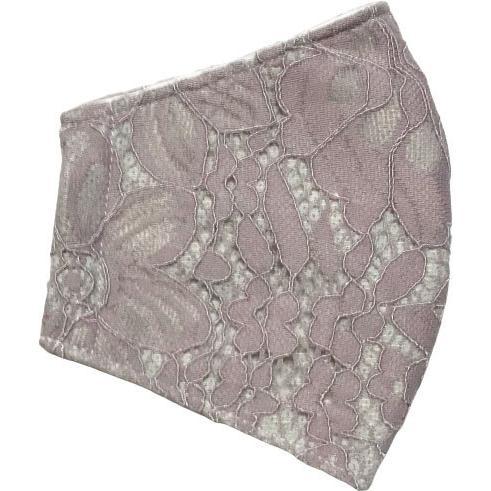 春夏用薄手 レースマスクカバー 繊細なタッチが美しいラッセルレースに接触冷感メッシュ・抗菌ダブルガーゼの3枚仕立て 不織布マスク用布カバーです。|yume-ribbon|23