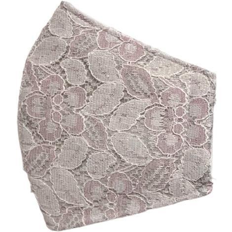 春夏用薄手 レースマスクカバー 繊細なタッチが美しいラッセルレースに接触冷感メッシュ・抗菌ダブルガーゼの3枚仕立て 不織布マスク用布カバーです。|yume-ribbon|24