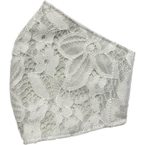 春夏用薄手 レースマスクカバー 繊細なタッチが美しいラッセルレースに接触冷感メッシュ・抗菌ダブルガーゼの3枚仕立て 不織布マスク用布カバーです。|yume-ribbon|25