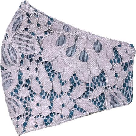 レースのおしゃれなスリムマスク。カラーガーゼと抗ウイルス・抗菌ガーゼを組み合わせての3層構造。50回洗っても抗菌作用は持続します。日本製|yume-ribbon|28