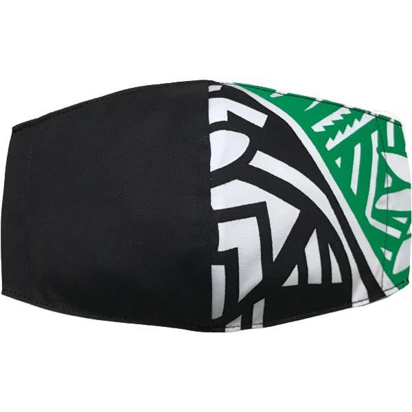 ハワイアンプリントのマスクカバー 不織布マスクがそのまま使える しわになりにくいポリコットン 肌側に抗ウイルス・抗菌素材使用  日本製 yume-ribbon 20