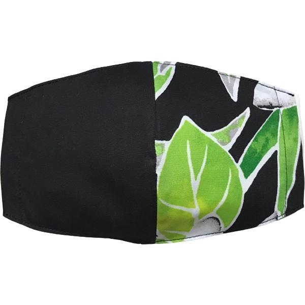 ハワイアンプリントのマスクカバー 不織布マスクがそのまま使える しわになりにくいポリコットン 肌側に抗ウイルス・抗菌素材使用  日本製 yume-ribbon 21
