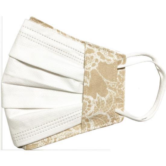 レース調プリント 布マスクカバー 不織布マスクがそのまま使える 繊細なタッチが美しいレース調のリアルなプリント   yume-ribbon 22