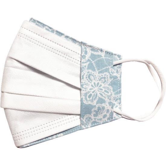 レース調プリント 布マスクカバー 不織布マスクがそのまま使える 繊細なタッチが美しいレース調のリアルなプリント   yume-ribbon 23