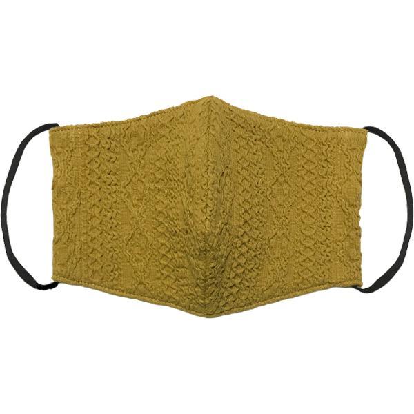アラン模様ニットを表側に、抗菌作用のあるダブルガーゼを内側に使ったあったか布マスク 日本製|yume-ribbon|24