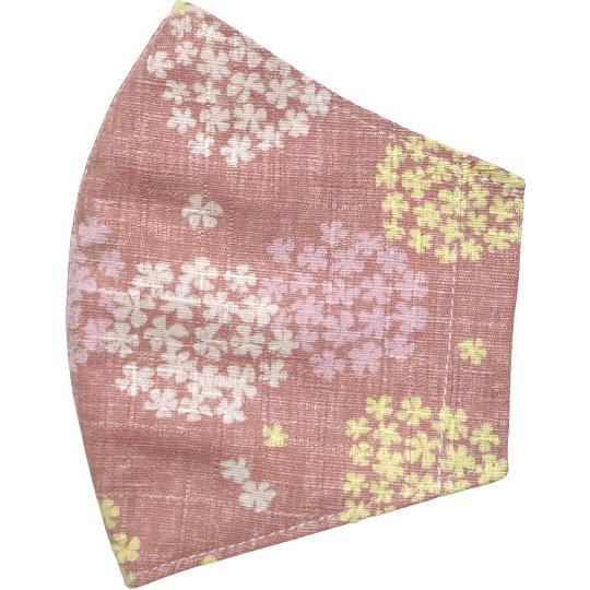 あじさい柄の布マスクカバー 肌側に抗ウイルス・抗菌素材のガーゼもしくは夏用メッシュ選択可 不織布マスクがそのまま使える 高級感を感じるドビー織 日本製|yume-ribbon|22