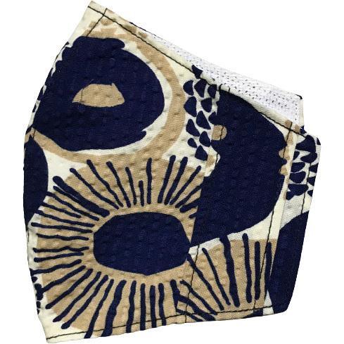 夏マスクカバー リップル木綿 凹凸のある涼しい素材 接触冷感 吸収速乾メッシュもしくはダブルガーゼ クレンゼ  市販の大人用M・Lサイズの不織布マスク用 yume-ribbon 22