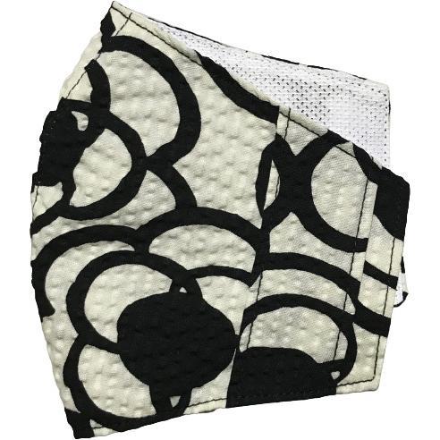 夏マスクカバー リップル木綿 凹凸のある涼しい素材 接触冷感 吸収速乾メッシュもしくはダブルガーゼ クレンゼ  市販の大人用M・Lサイズの不織布マスク用 yume-ribbon 24