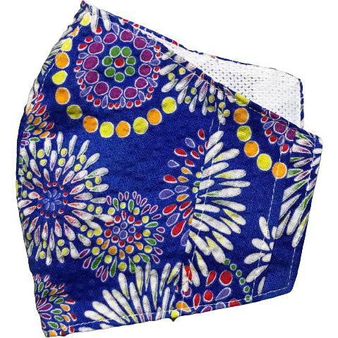 夏マスクカバー リップル木綿 凹凸のある涼しい素材 接触冷感 吸収速乾メッシュもしくはダブルガーゼ クレンゼ  市販の大人用M・Lサイズの不織布マスク用 yume-ribbon 27