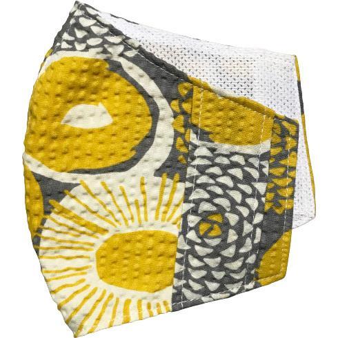 夏マスクカバー リップル木綿 凹凸のある涼しい素材 接触冷感 吸収速乾メッシュもしくはダブルガーゼ クレンゼ  市販の大人用M・Lサイズの不織布マスク用 yume-ribbon 29