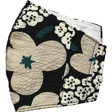 夏マスクカバー リップル木綿 凹凸のある涼しい素材 接触冷感 吸収速乾メッシュもしくはダブルガーゼ クレンゼ  市販の大人用M・Lサイズの不織布マスク用 yume-ribbon 30