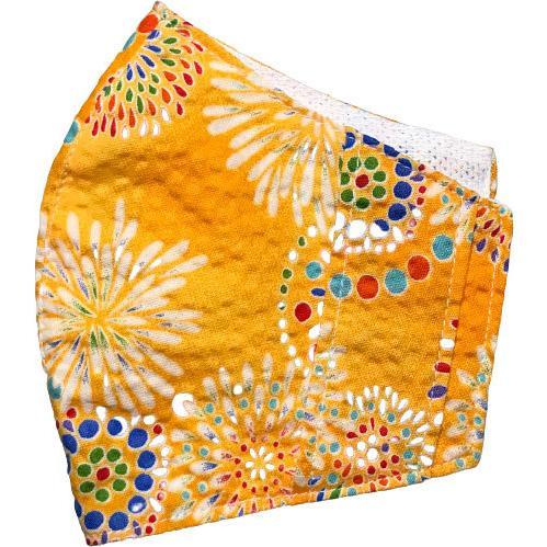 夏マスクカバー リップル木綿 凹凸のある涼しい素材 接触冷感 吸収速乾メッシュもしくはダブルガーゼ クレンゼ  市販の大人用M・Lサイズの不織布マスク用 yume-ribbon 37