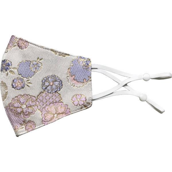 着物の帯のような金襴生地の立体マスク。金糸使いの豪華でおしゃれ、スリムタイプの布マスクです。ウエディング、コスプレ、舞台衣装、和装に。日本製|yume-ribbon|34