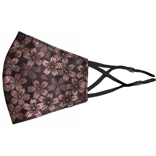 着物の帯のような金襴生地の立体マスク。金糸使いの豪華でおしゃれ、スリムタイプの布マスクです。ウエディング、コスプレ、舞台衣装、和装に。日本製|yume-ribbon|36