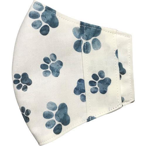 水彩肉球マスクカバー  不織布外側タイプ 夏用接触冷感・吸収速乾素材のメッシュもしくはダブルガーゼを選択  市販の大人用M・Lサイズ 日本製 コットン100% yume-ribbon 24