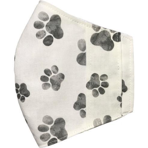 水彩肉球マスクカバー  不織布外側タイプ 夏用接触冷感・吸収速乾素材のメッシュもしくはダブルガーゼを選択  市販の大人用M・Lサイズ 日本製 コットン100% yume-ribbon 21