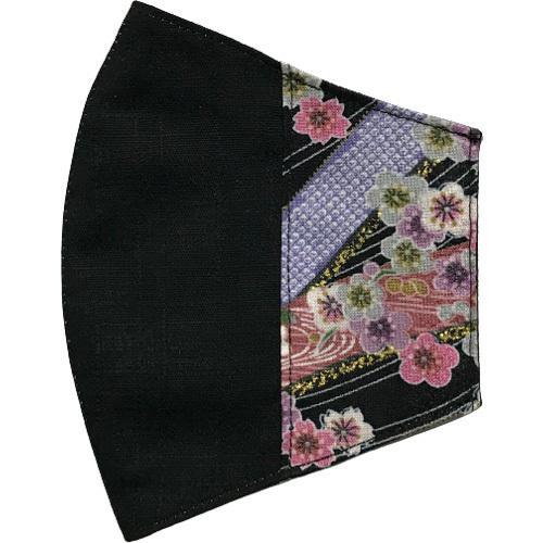 マスクカバー 不織布マスクがそのまま使える和風和柄のファブリック 肌側に抗ウイルス・抗菌素材使用 日本製 コットン100% yume-ribbon 21