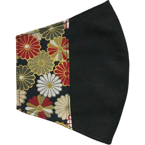 マスクカバー 不織布マスクがそのまま使える和風和柄のファブリック 肌側に抗ウイルス・抗菌素材使用 日本製 コットン100% yume-ribbon 22