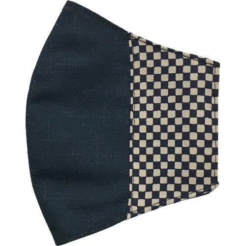 マスクカバー 不織布マスクがそのまま使える和風和柄のファブリック 肌側に抗ウイルス・抗菌素材使用 日本製 コットン100% yume-ribbon 24
