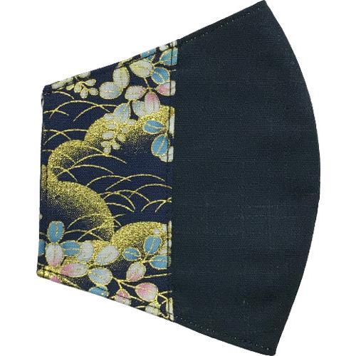 マスクカバー 不織布マスクがそのまま使える和風和柄のファブリック 肌側に抗ウイルス・抗菌素材使用 日本製 コットン100% yume-ribbon 25