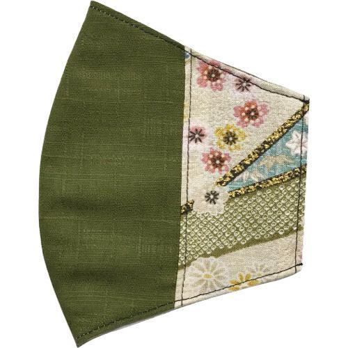 マスクカバー 不織布マスクがそのまま使える和風和柄のファブリック 肌側に抗ウイルス・抗菌素材使用 日本製 コットン100% yume-ribbon 26