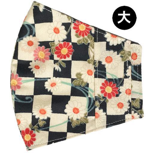 和風花柄布マスクカバー 不織布マスクがそのまま使える アムンゼン 肌側に抗ウイルス・抗菌素材使用 日本製|yume-ribbon|24