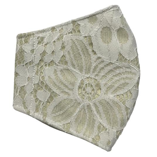 春夏用薄手 レースマスクカバー 繊細なタッチが美しいラッセルレースに接触冷感メッシュ・抗菌ダブルガーゼの3枚仕立て 不織布マスク用布カバーです。|yume-ribbon|27