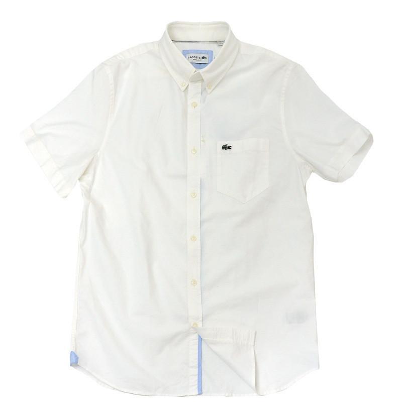 ラコステ シャツ 半袖 メンズ オックスフォードシャツ  カジュアルシャツ ブランド 2021年 春 大きいサイズ LACOSTE  #la-ch4975-51|yumesse|14