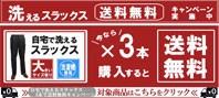 特集6:スラックス3枚送料無料キ