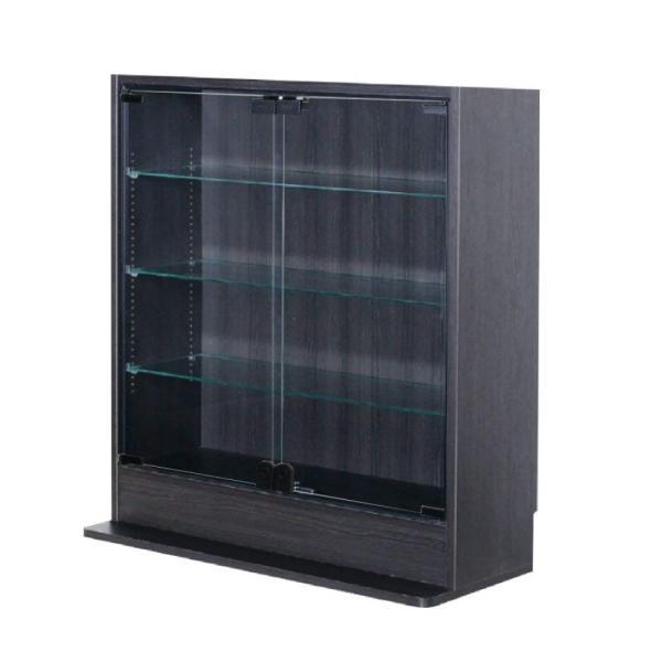 コレクションラック ロータイプ  ガラス引戸タイプ (幅90cmX奥行39cm) [選べる5カラー][ほこりをシャットアウト](送料無料)|yumugiya|09