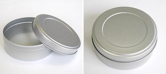 平缶(シルバー)
