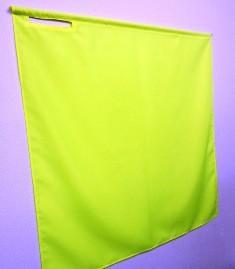 蛍光旗90×90cm 黄 赤 緑 オレンジ色