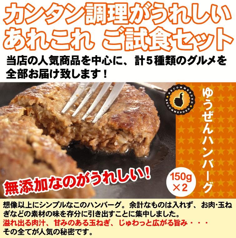 無添加 牛肉100% お試し ハンバーグ