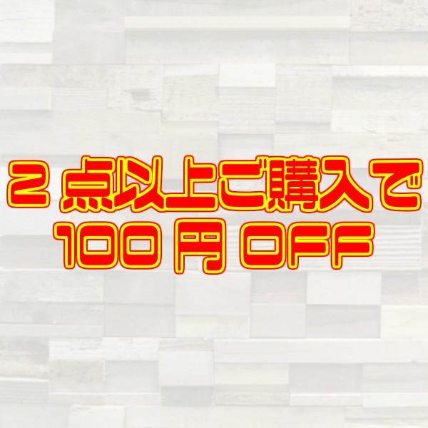 2点以上ご購入で100円OFF