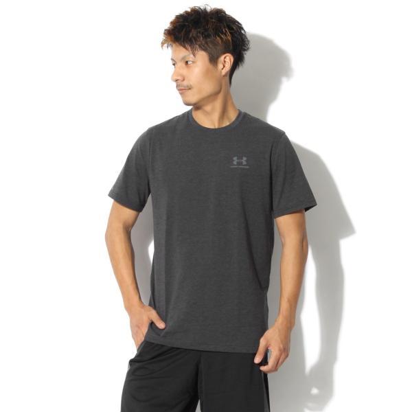 【メール便可】UNDER ARMOUR アンダーアーマー Tシャツ レフト チェスト ロゴTシャツ 1257616 メンズ z-craft 22