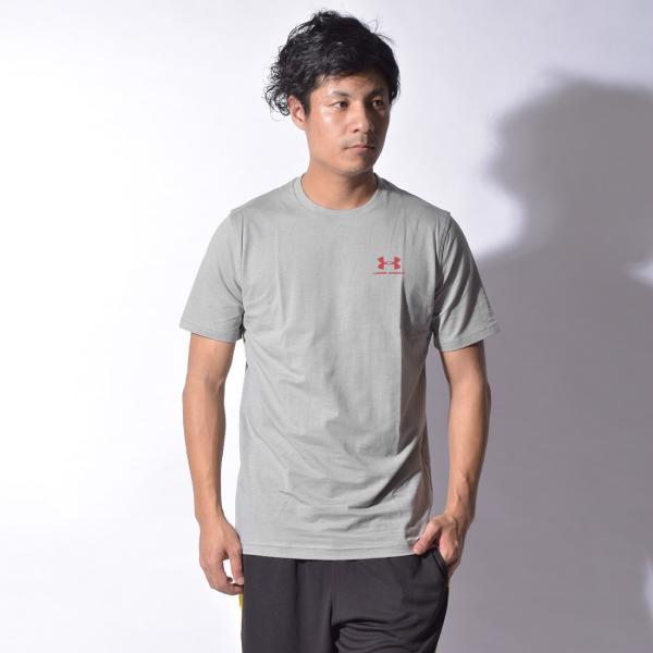 【メール便可】UNDER ARMOUR アンダーアーマー Tシャツ レフト チェスト ロゴTシャツ 1257616 メンズ z-craft 23