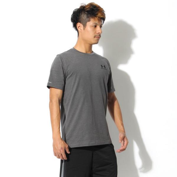 【メール便可】UNDER ARMOUR アンダーアーマー Tシャツ レフト チェスト ロゴTシャツ 1257616 メンズ z-craft 24