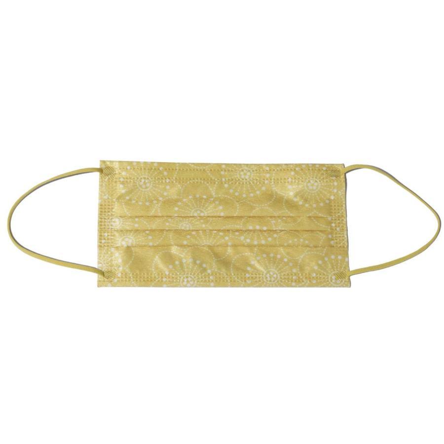 不織布マスク レディース 女性用 メンズ 男性用 カラー 柄入り 使い捨て 花 1DAY 7枚セット ゆうパケット可 秋冬 z-mall 19