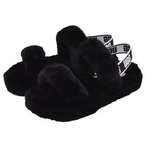アグ サンダル レディース オー イヤー UGG 1115752K ブラック 黒 グレー パープル 靴 シューズ 室内 室外 ルームシューズ ボア Z-SPORTS PayPayモール店