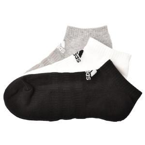 アディダス 靴下 メンズ レディース クッション ロウ 3P ADIDAS FXI60 黒 ブラック ホワイト 白 グレー ウエア ブランド 運動|Z-SPORTS PayPayモール店