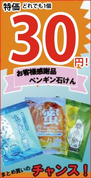 お客様感謝品_特価30円