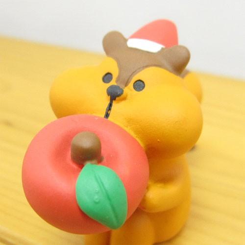 DECOLE(デコレ) concombre(コンコンブル) Merry CHRISTMAS concombre APPLE PARTY むしゃむしゃりんごりす