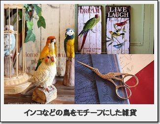 鳥、インコ、フクロウの雑貨