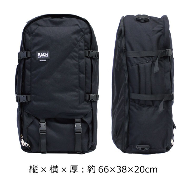 79db86dca09c ... BACH バッハ TRAVEL PRO 70 トラベルプロ 70 バックパック バッグ カバン 鞄 旅行 A3 70L 132411 BLACK