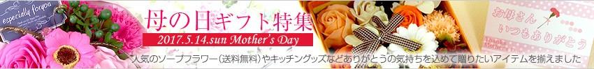 母の日ギフト。人気のソープフラワーやキッチン雑貨など送料無料商品もあります