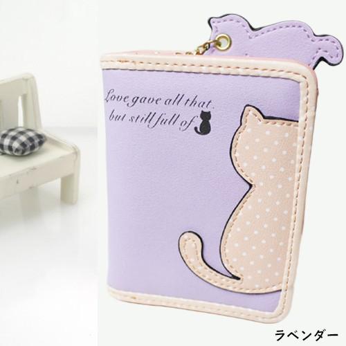 af116795e702 おしゃれ かわいい 猫の 二つ折り 財布 / ノーブランド品 レディース ...