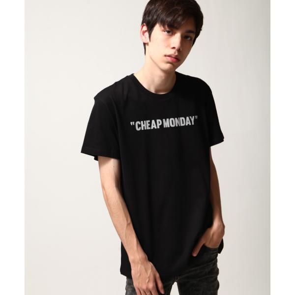 Tシャツ メンズ カットソー 半袖 クルーネック ロゴ プリント レッド ブラック CHEAP MONDAY ファッション (0634791)|zip|12