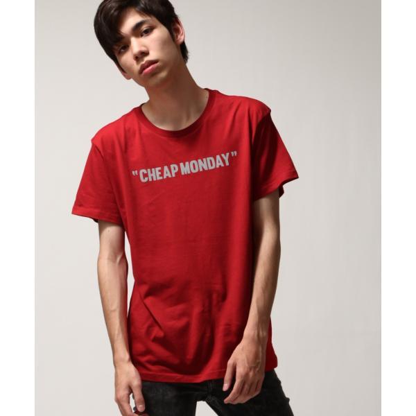 Tシャツ メンズ カットソー 半袖 クルーネック ロゴ プリント レッド ブラック CHEAP MONDAY ファッション (0634791)|zip|13