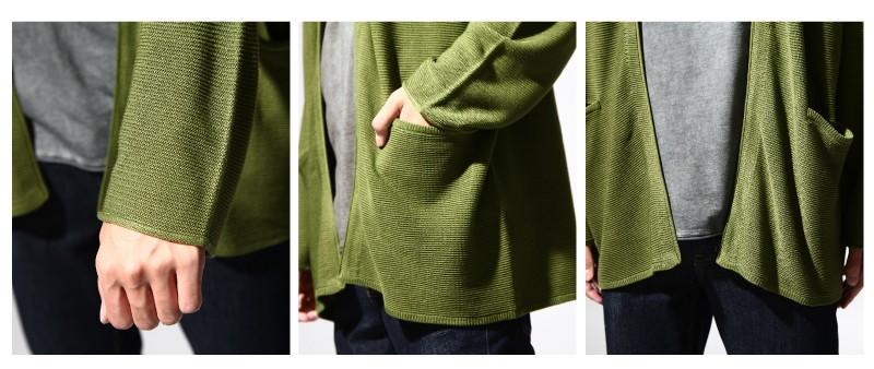 鹿子織開襟外套