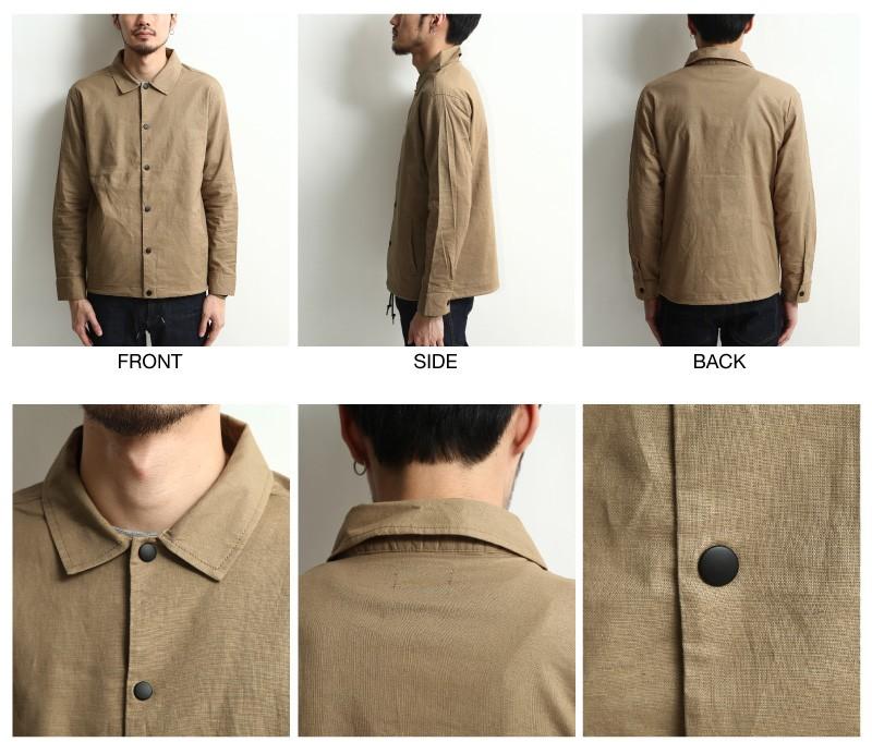 棉麻防潑水教練夾克Coach jacket